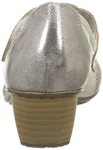 Rieker Damen 41755 63 Pumps Grau - Gris (Clay/Grey/Taupe)