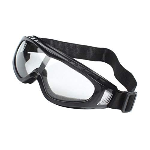Fenteer Chemie Schutzbrille, transparent - Schwarz