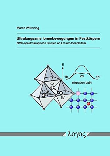 Ultralangsame Ionenbewegungen in Festkörpern -- NMR-spektroskopische Studien an Lithium-Ionenleitern