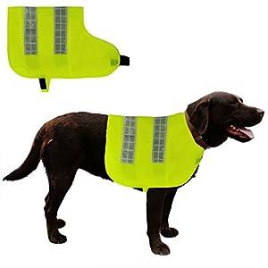 Dog-Hi-Vis-Jacket-4-Sizes-High-Visibilty-Vest-Coat-Fluorescent-Yellow-Medium-Large-Extra-Large-and-XX-Large