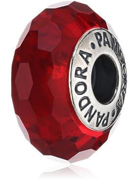 Pandora Damen-Charm 925 Sterling Silber Muranoglas rot 791066