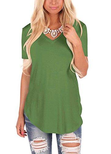 4e98c9a8abd Fliegend Camiseta Oversize para Mujer Manga Corta Top Blusa de Verano  Casual Camisas de Cuello Redondo