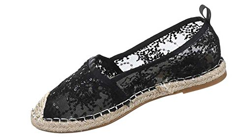 Damen-Schuhe Slipper | stilvolle Halbschuhe in verschiedenen Farben und Größen | Schuhcity24 | Freizeitschuhe in Spitzenoptik Schwarz
