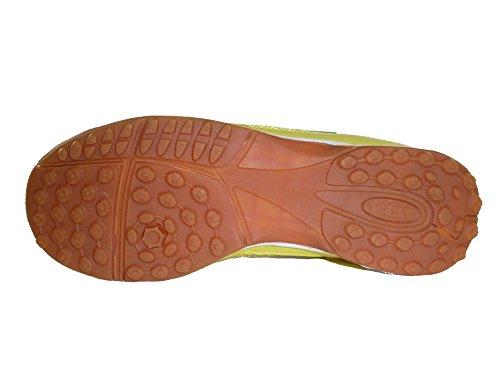 KILLER AGLA PROFESSIONAL OUTDOOR Chaussures de futsal futsal avec anti-choc Blanc Cassé - Jaune