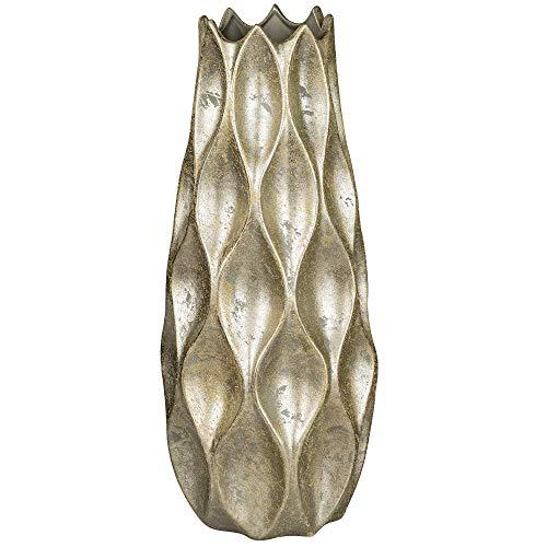 formano Bodenvase Rustik konisch rund H. 50cm D. 21cm Champagner Gold W19