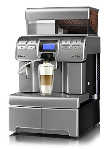 Saeco Aulika Top RI High Speed Cappuccino Libera installazione Automatica Macchina da caffè combi 4L 2tazze Argento
