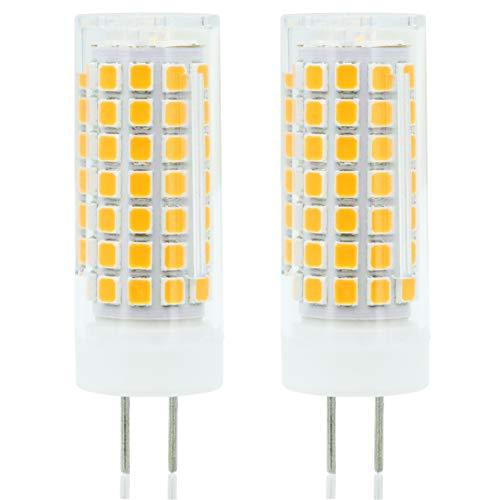 Neueste G6.35 GY6.35 LED 6W Birne Leuchtmittel Hohe Helligkeit Äquivalent zu 75Watt Halogenlampe 95V-240V Warm Weiß 3000K (2-Packs)