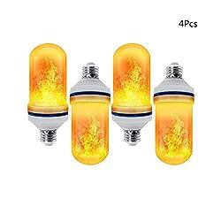 Rxrenxia Flamme-Birne, LED Flammeneffekt Glühlampen Mit 3 Beleuchtung Modi Retro Indoor Outdoor Dekorative Leuchten Für Gärten Hochzeit Halloween Weihnachten 1 PCS