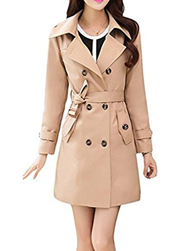 Hqclothingbox -  Cappotto  - Impermeabile - Donna Khaki XXX-Large