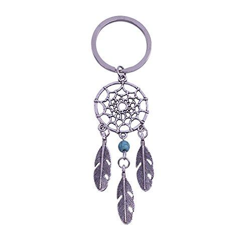 iTemer Llaveros personalizados Anillas para llaveros Llaveros para parejas Llaveros casa El regalo de moda Metal Azul Campana de viento 1 pieza