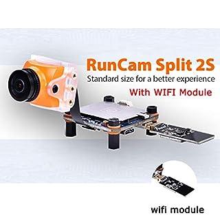 RunCam Split 2 1080P/60fps HD recording plus WDR Runcam 3 Lens FPV camera DC 5V-17V NTSC PAL Support 64G TF WiFi for RC Drones Quadcopter (Runcam Split 2S)