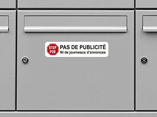 Stickers Boites Aux Lettres Pas De Publicité