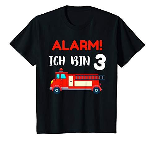 Kinder Geschenk 3 jähriger Junge Feuerwehr Shirt 3. Geburtstag