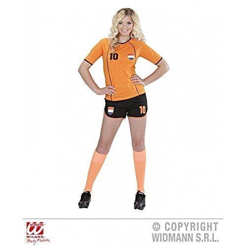 Kostüm Fussballspielerin Niederlande / Holland / niederländisches Fußballtrikot / Fankostüm / Fanartikel Gr. L = (Kostüme Holländische Holland)