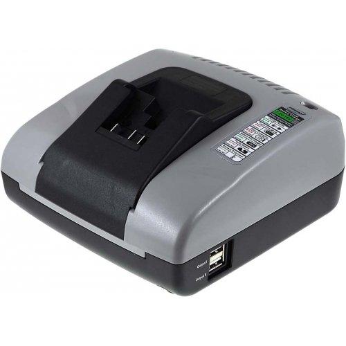 akku-net Akku-Ladegerät mit USB für Dewalt Winkelschleifer DCG412N, - Dewalt Volt Usb 20