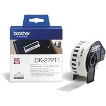 brother Endlosetikettenrolle DK-22211 / weiß / 29,0 mm x 15,24 m / für QL-550/QL-500/QL-500A/QL-500BS/QL-500BW/QL-560VP/QL-560/QL-570/QL-580N/QL-650TD/QL-700/QL-710W/QL-720NW/QL-1050/QL-1050N/QL-1060N