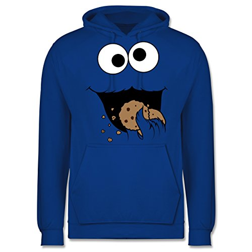 Shirtracer Karneval & Fasching - Keks-Monster - XL - Royalblau - JH001 - Herren Hoodie