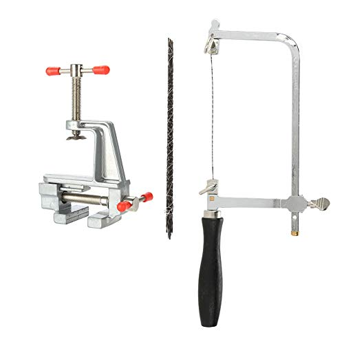 Kit de herramientas de manija para sierras para joyas Juego de herramientas de reparación de bricolaje para sierras y sierras y hojas de sierra