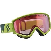Scott Fact–Gafas de esquí, otoño/invierno, unisex, color Macaw Green, tamaño talla única