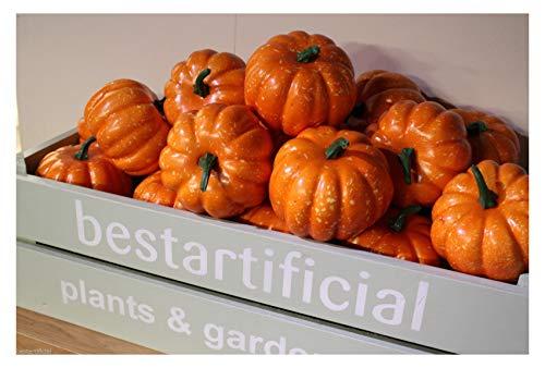 3Best Künstliche 9cm Mini Pumpkins Halloween Fancy Dress Party Gemüse Obst