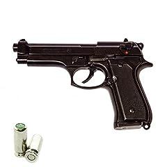 Idea Regalo - Scacciacani Pistola a Salve BRUNI Beretta 92 Cal.9 Pak | Top Firing | Nera