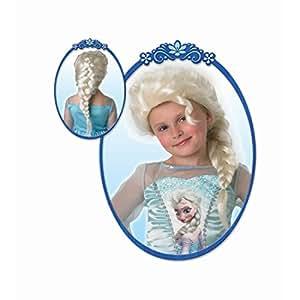 Perruque d'Elsa reine des Neiges postiche pour enfant Fausse tresse de princesse Disney petite fille moumoute de carnaval princesse reine longs cheveux carnaval déguisement pour enfant accessoire