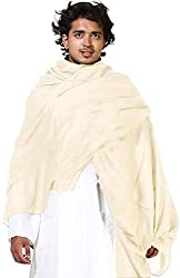Wool & Blends Hot Kashmiri 100% Pure Oswal Wool Lohi / Shawl For Men