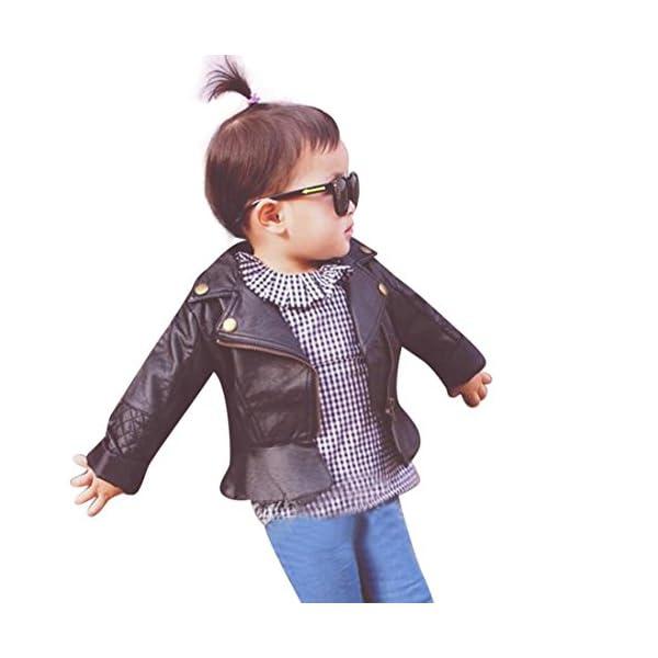 RETUROM Ropa De La Muchacha Niños, Fresca del Cabrito del Niño del BebÉ De La Manera Chaqueta De Cuero Infantil De La… 1