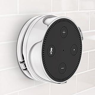 Abnehmbare Wandhalterung Halterung Ständer für Amazon Echo dot 2nd Generation, Kein Nagel, Kabel Veranstalter Wall Mount für Home Voice Assistants, Ideal für Home und Geschäfts (Weiß)