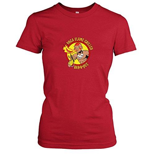 TEXLAB - Yoga Flame BBQ - Damen T-Shirt Rot