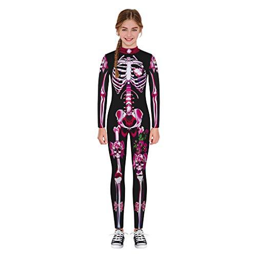 Kostüm Teen Für Jungen - Baby Halloween Kostüm, Teen Kinder Mädchen & Jungen Halloween Cartoon Skull Print Strampler Overall Kleidung für 7-14 Jahre