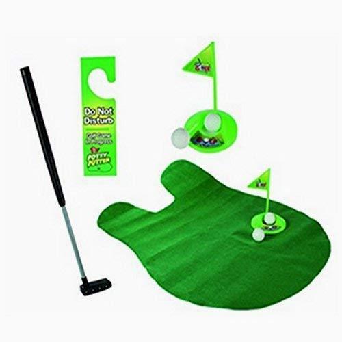 Beito Newin Stern Toilette Golf Putter Praxis im Badezimmer mit Diesem Potty Putter Mini Golf Training für Männer Spielzeug Lustige Zeit