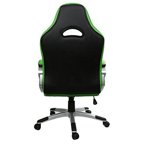 Gaming Chair,IntimaTe WM Heart High Back Office Chair Desk Chair Racing Chair Reclining Chair Computer Chair Swivel Chair PC Chair Green Black