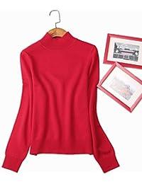 Nighout Camisa de Fondo de Invierno Completo Mullido Camisa de Fondo suéter de Mujer Cuello Alto