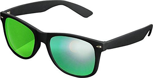 MSTRDS Likoma Mirror Unisex Sonnenbrille Für Damen und Herren mit verspiegelten Gläsern, black/green