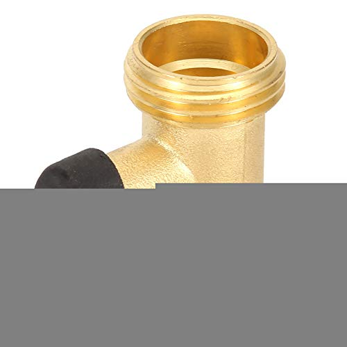 Jadpes Ventilschlauchanschluss, 3/4 DN20 Messing, gerade, Single-Pass-Vollkupfer-Kugelhahnschlauchanschluss für den Gartengebrauch