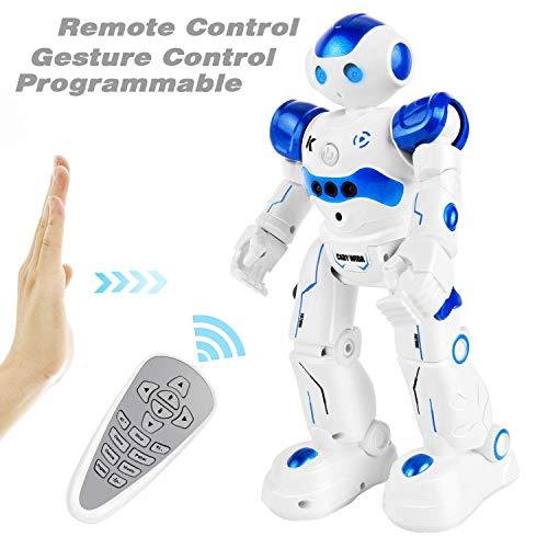 GotechoD Jouet Robot télécommandé pour Enfant, Intelligent Robot programmable radiocommandé, Jouet Enfant 3-10 Ans garçon Fille Cadeau Anniversaire Noël Nouvel an