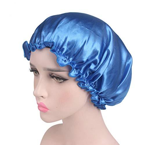 Wide Band Satin Night Cap Atmungsaktives Gummiband Mütze Schlafmütze Breathable Hair Beauty Cap für Frauen