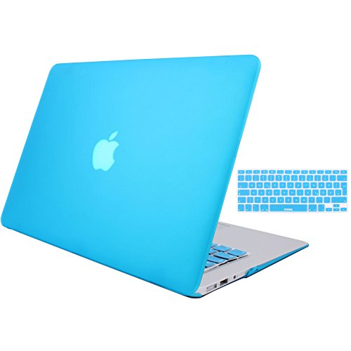 MacBook Air 13 Hülle Case, STONG MacBook Air 13 Hülle Cover Matte Gummierte Harte Schutzhülle für Macbook Air 13'' Case Shell Hard Plastik mattiert SchutzTasche + TPU Tastatur-Schutzfolie (Himmelblau)