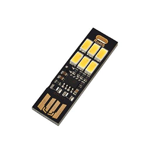 Mode Mini 5V USB Power LED Light Touch Dimmer justieren LED Nachtlampen Karte Cool White
