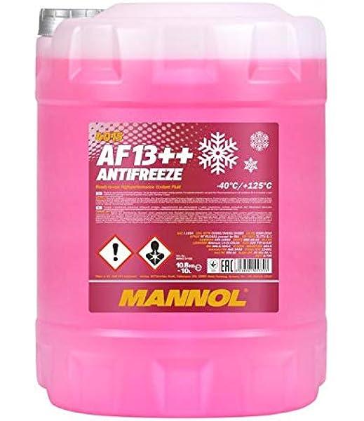 Mannol 10 Liter Af13 40 C Antifreeze Kühlerfrostschutz Fertigmischung G13 Auto