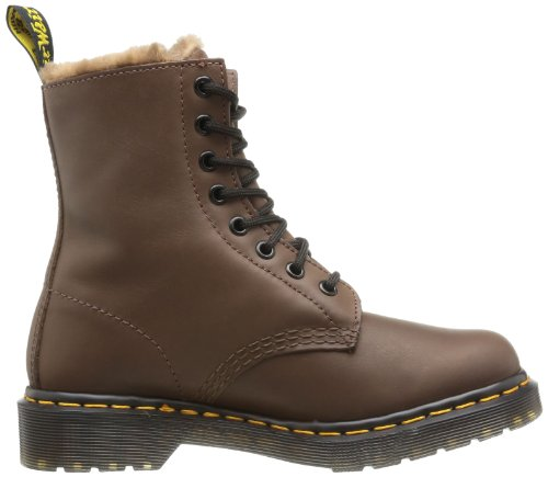 Dr. Martens - Serena Polished Mirage Brown, Stivali Donna Marrone (Braun (brown))