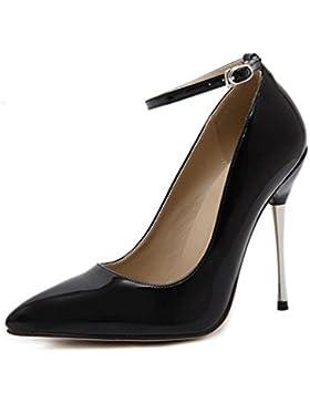 Trabajo Tobillo correas Bombas stiletto 11cm Tacón Simple Verano Señoras Señaló los zapatos de dedo del pie UE...