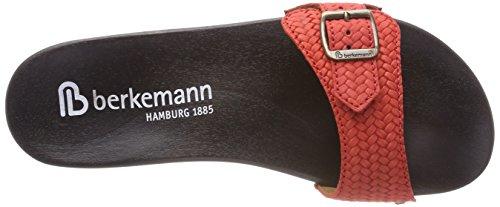 Berkemann Hippie-No-Sandale, Mules Femme Rot (Rot)