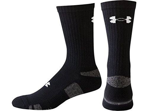 Under-Armour-Mens-Heat-Gear-Crew-Socks-Pack-of-3-Black-Medium