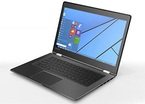 """Lenovo Yoga 510-14- Portátil táctil convertible de 14.3""""HD (Intel I3-7100U, 4 GB de RAM, 128 GB de SSD, Windows 10), negro - teclado QWERTY Español"""
