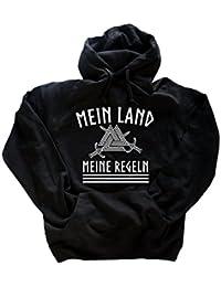Original Viking-Shirts T-Shirt | Mein Land-Meine Regeln II Wikinger | 100 % Baumwolle | bequem & hoher Tragekomfort