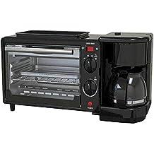 BBG Máquina Multifuncional del Desayuno Tres en uno del Horno eléctrico, máquina del Pan del