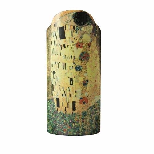 John Beswick 23 x 10 cm, Motiv: Klimt, Der Kuss, Silhouette d'Vase, mehrfarbig, Farbe