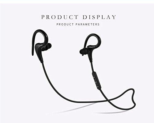 Gzmy Auriculares deportivos inalámbricos a prueba de agua 4.1HD estéreo a prueba de sudor auriculares en la oreja batería auriculares con cancelación de ruido